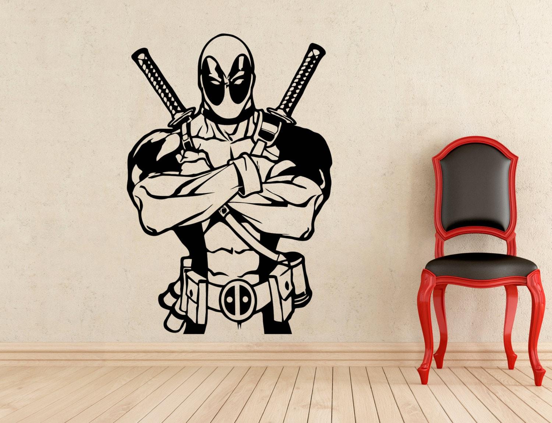 Deadpool pegatinas pared vinilo calcoman as home interiores - Calcomanias para paredes ...