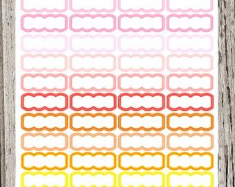 Warm Blank Scallop Planner Stickers for Erin Condren (functional series)