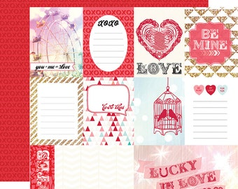 Echo Park Lucky In Love Double Sided Cardstock - Love This