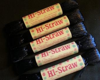 Vintage Hi-Straw - Navy Yarn, Bundle of 5, 120 Yards Total