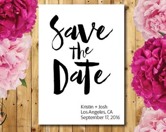 PRINTABLE Save the Date // 5x7 // Fun Save the Date // Wedding Save the Date // Modern Save the Date