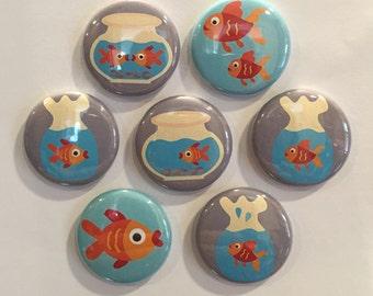 Goldfish Magnets - set of 7