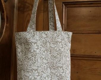 Ladies tote bag, ladies handbag, women's bag, women's tote bag, women's handbag, tote bag, floral linen tote, gift for her, ladies bag