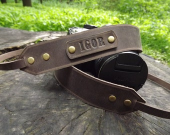 Personalized camera strap leather/Leather Camera Strap/Gift for Photographer/Canon camera strap/canon camera/Nikon camera strap