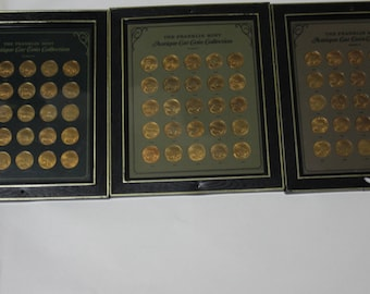 FRANKLIN MINT CARS coins series 1-2-3
