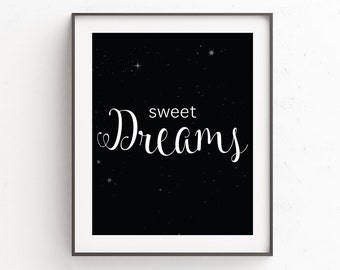 Nursery Art, Nursery Decor, Playroom Decor, Best Nursery Decor, Kids Room, Nursery Prints, Sweet Dreams, New Baby Gift, Sweet Dreams Sign