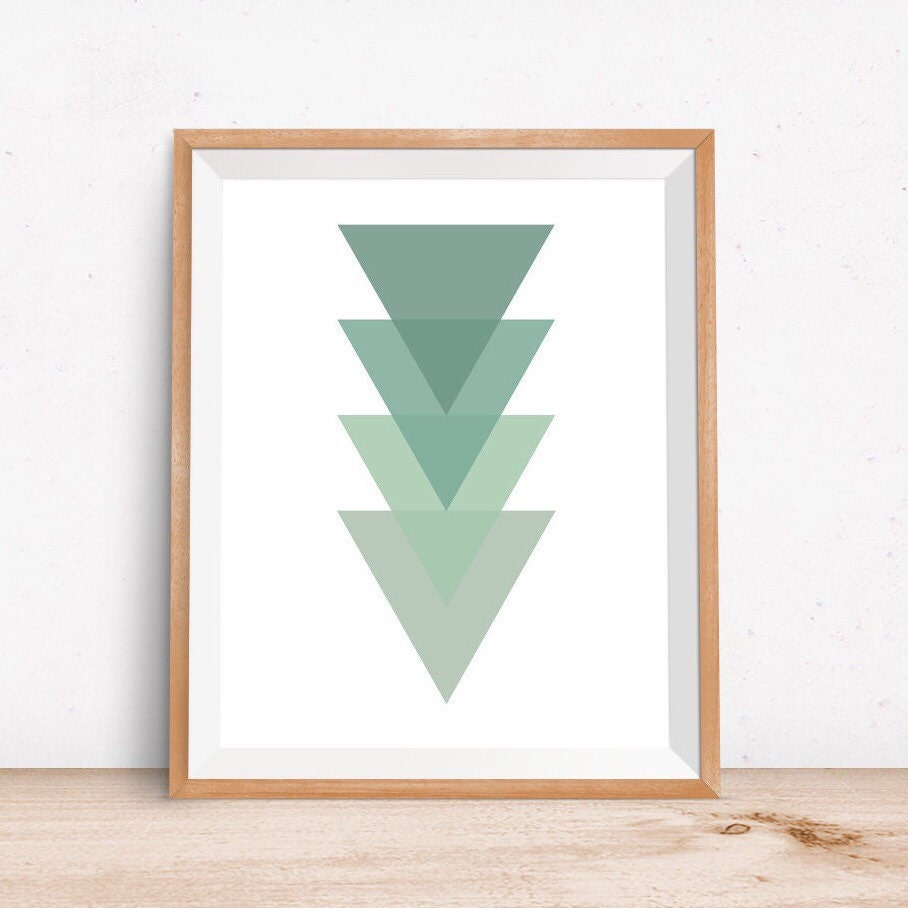 Minimalist geometric wall art minimalist geometric by for Minimalist wall decor