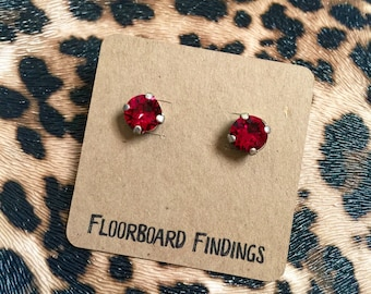 Swarovski Crystal Studs in Red