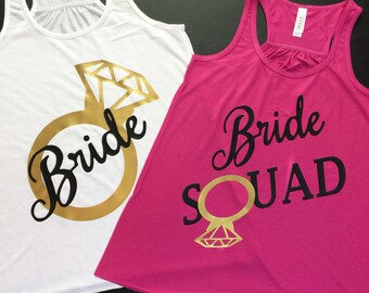 Bachelorette Party Shirts, Bridal Party Tanks, Bride Squad