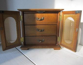 SALE Jewelry Box, Organizer, Storage, Jewelry Holder Vintage Mini Chest Upcycle Project