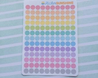 Mini Pastel Dot Stickers
