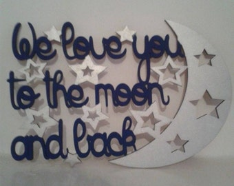 Wall Plaque Love you to the moon and back
