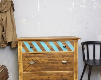 Chest of drawers shabby antique old loft
