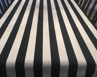 Striped Tablecloth Etsy