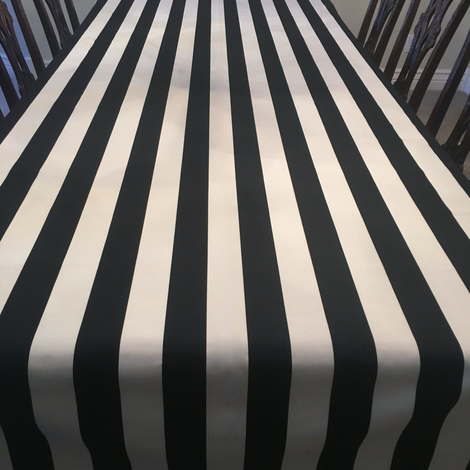 Black White Striped Tablecloth Striped Tablecloth Formal