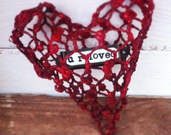 Wire heart sculpture