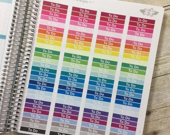 """Bright """"To Do"""" Vertical Life Planner Headers ~ 1105F ~"""