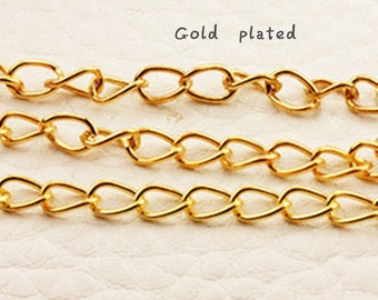10 Gold Plated Extension Chain - Tail Link Extender  Handmade Jewellery