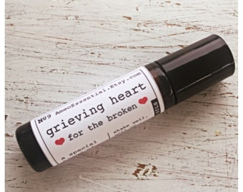 Grieving Heart roller ball blend for the broken / comfort blend / emotional support / grieving process / pure essential oil synergy blend