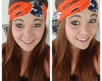 Orange Denver Broncos Headband