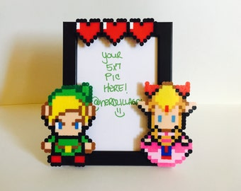 The legend of Zelda Picture Frame- Zelda Picture Frame- Nerdy couple - Zelda Frame-Couples Picture Frame-Wedding Anniversary
