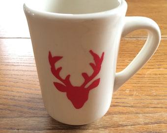 Hand Painted Buck Mug