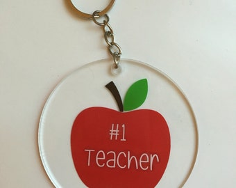 Teacher Keychain- #1 Teacher