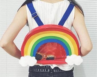 Rainbow backpack | rave, kids backpack, edm, school, EDC