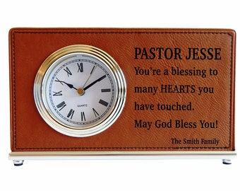 Custom Priest Appreciation Clock Gift, Personalized Thank You Gift for Priest,  Pastor Gift, Priest Gift, Wedding Officiant Gift, LCP007b