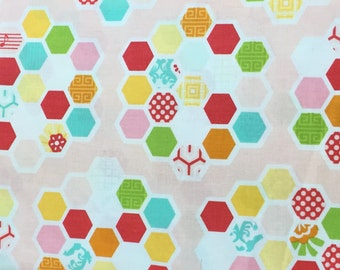 Simply Sweet Pink Honeycomb BTY fabric