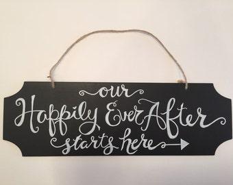 Hanging Chalkboard Sign