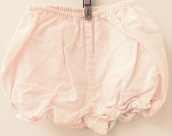 2T, Classic Baby Bloomers, Pale Pink and White Checked