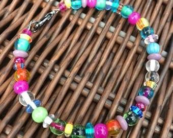 Rainbow Bohemian Beaded Bracelet