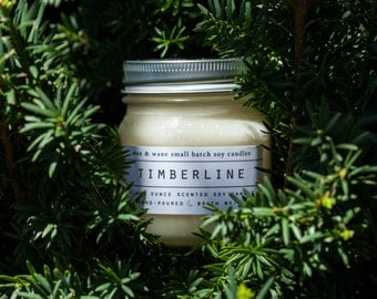 Timberline Candle - Pine Scented Christmas Tree candle Natural Soy Candle - Mount Hood The Shining Winter Candle - Scented Candle - Pine Can