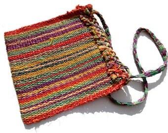 VINTAGE: Multicolor Straw Woven Bag - Raffia Tote bag