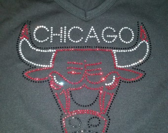 Chicago Bulls Rhinestone T-Shirt