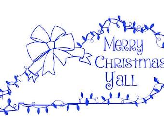 KY Christmas Cut File, Christmas Lights Cut File, Christmas SVG, Christmas Vinyl Cut File