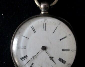 Winding key case Pocket Watch Silver - 20504