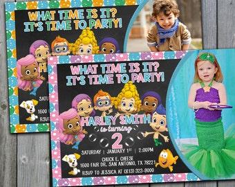 Bubble Guppies Invitation, Bubble Guppies Birthday Invitations, Bubble Guppies Invite, Bubble Guppies Birthday Invite, #194