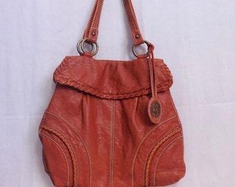 Big fun Marc Ecko tote bag, tomato red faux leather