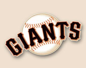 San Francisco Giants Decal Etsy