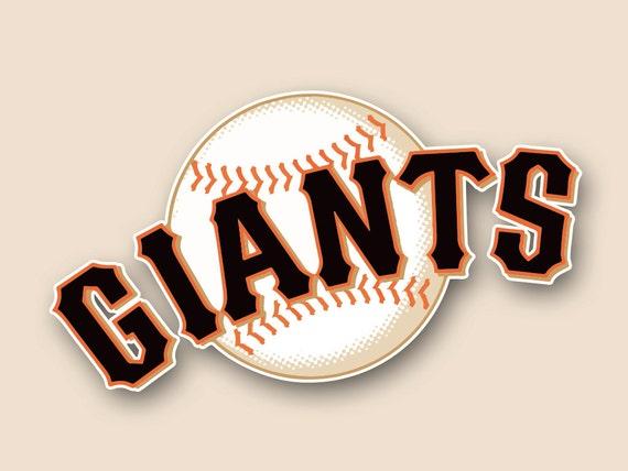 San Francisco Giants Set Of 2 Vinyl Cornhole Decal Logo Wall