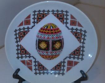 Vintage Collectable Dish Ukrain 1950's Handpainted