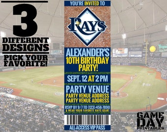 Tampa Bay Rays Birthday Invitation – Printable MLB Invitation