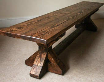 Farmhouse Bench - Reclaimed Wood Bench - Rustic Bench