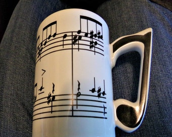 Chadwick Miller Music Note Coffee Mug with Black & White Note Handle