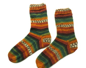 Knitted wool socks, ankle socks, Christmas gift, Art socks, Print socks, House socks, Unique socks, Boot socks, cozy warmers, socky socks