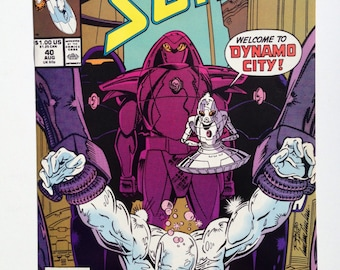 """Silver Surfer # 40, August 1990, Second Series, """"Welcome to Dynamo City"""""""