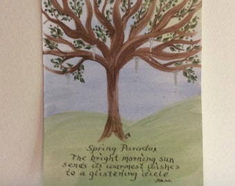 Acrylic Painting, Haiku, Spring, Seasons