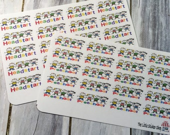 preschool or Headstart stickers. Perfect for any life planner!